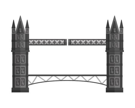 london bridge antique landmark england vector illustration Illustration