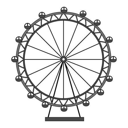 london eye wheel landmark england vector illustration Stock Illustratie
