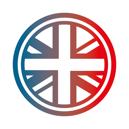 united kingdom flag in round button symbol vector illustration gradient design  イラスト・ベクター素材