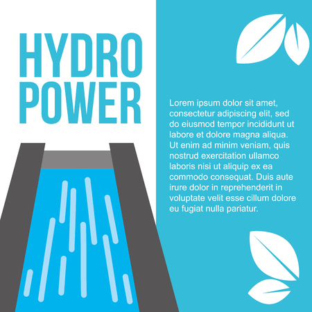 hydro power plant renewable ecology energy vector illustration