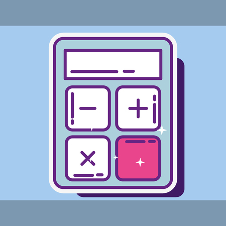 financial calculator maths economy icon  buy online vector illustration Foto de archivo - 104578906
