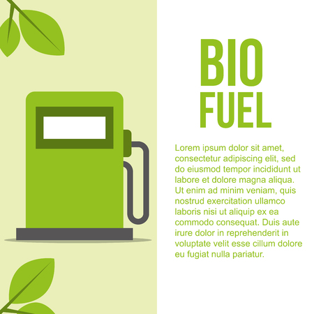 biofuel pump station gas ecology vector illustration