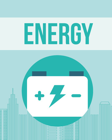 accumulator battery energy power alternative vector illustration