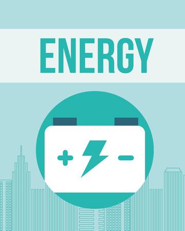 accumulator battery energy power alternative vector illustration