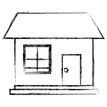 exterior house isolated icon vector illustration design 向量圖像