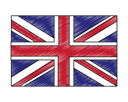 flag of great britain isolated icon vector illustration design 向量圖像