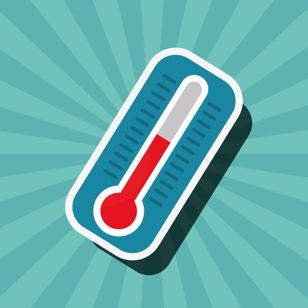 Erdstunden-Thermometer heiße Gefahr Vektor-Illustration Vektorgrafik