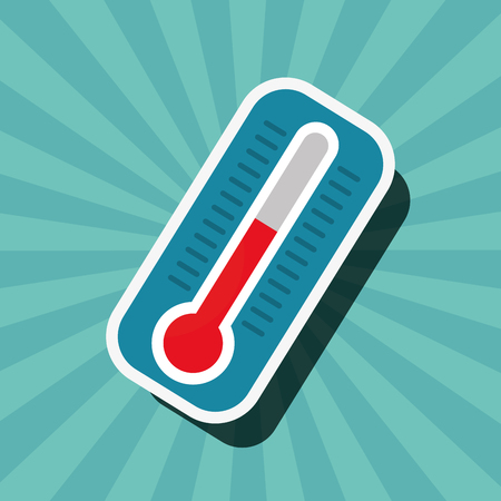 earth hour thermometer hot danger vector illustration