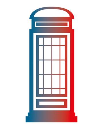 london telephone box classic design vector illustration gradient design Stock Illustratie
