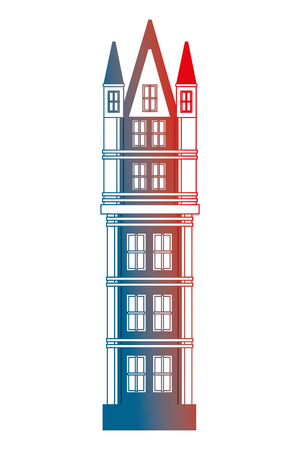 classic tower architecture antique building vector illustration gradient design