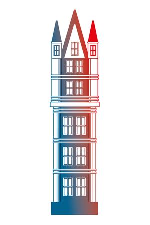 classic tower architecture antique building vector illustration gradient design