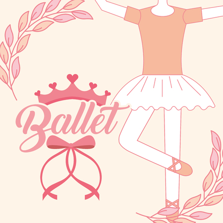 beautiful ballerina ballet classic tutu vector illustration 向量圖像