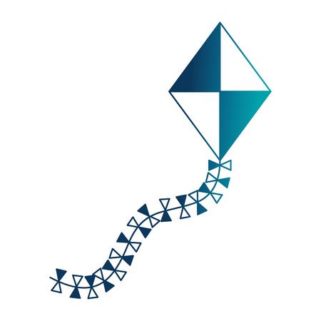 kite flying isolated icon vector illustration design Stock Photo
