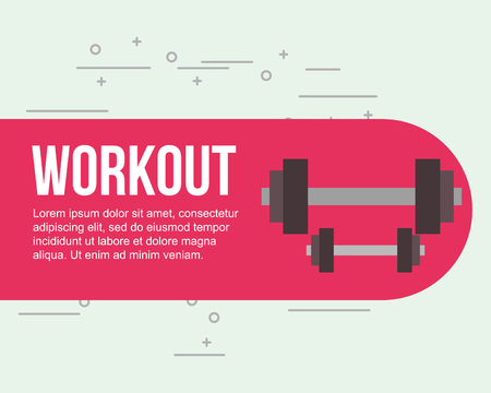 weight dumbbells fitness gym workout vector illustration