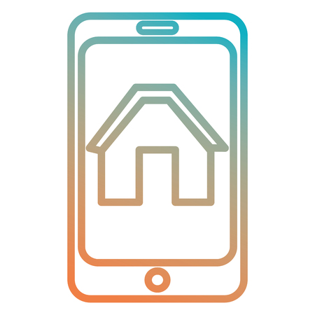 smartphone device with home icon vector illustration design Illustration