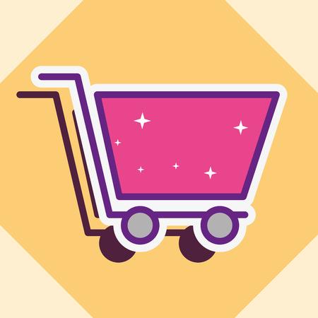 shopping cart e-commerce  buy online vector illustration