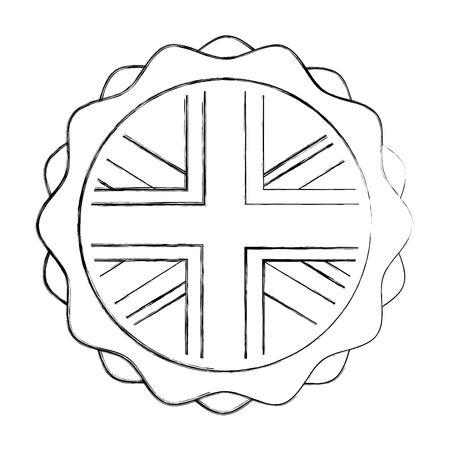 emblem seal of flag great britain isolated icon vector illustration design 스톡 콘텐츠 - 114950742