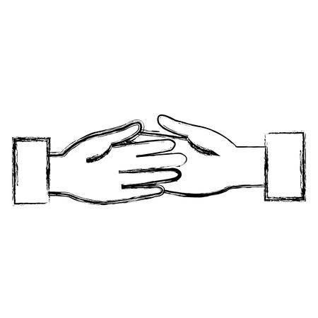 business handshake isolated icon vector illustration design Illusztráció