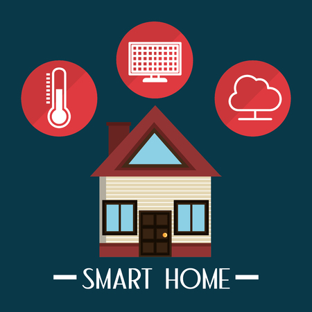 smart house with set services icons vector illustration design Stock Illustratie