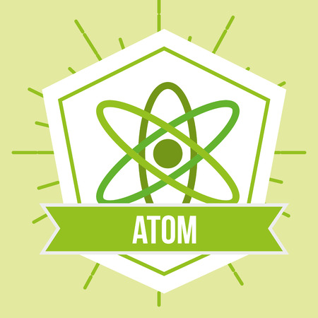 atom molecule science energy emblem vector illustration Иллюстрация
