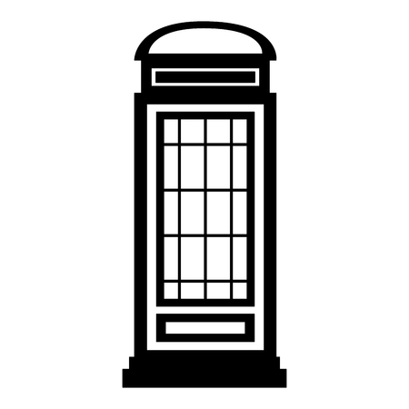 london telephone box classic design vector illustration black and white