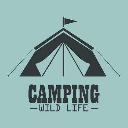 camping wild life with tent vector illustration design Illustration