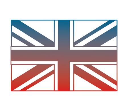 united kigdom flag memorial symbol vector illustration gradient design