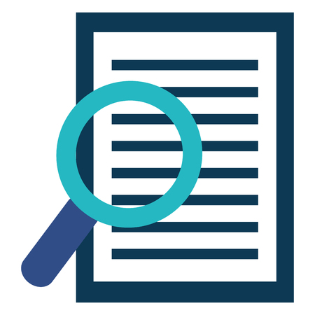 magnifying glass with documents vector illustration design 矢量图像