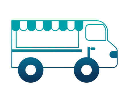 shop fast food truck isolated icon vector illustration design Ilustracja