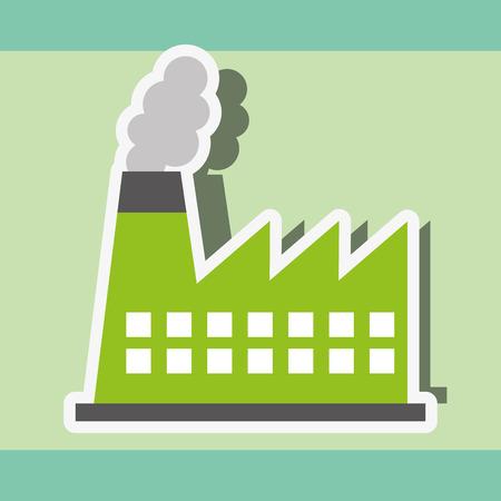 industry factory power energy sticker vector illustration Illustration