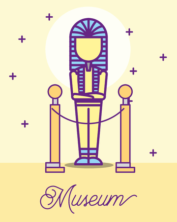 museum monuments design pharaoh egypt stars vector illustration 向量圖像