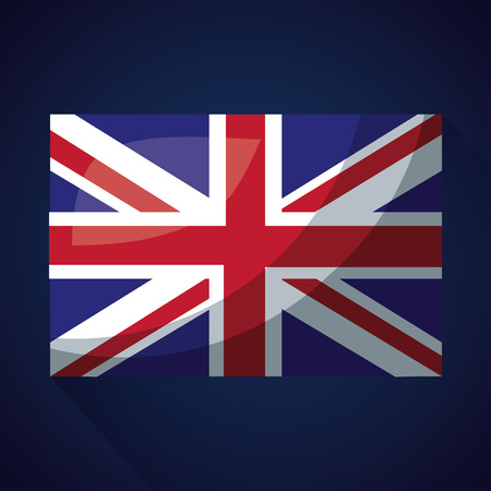 united kingdom country sparkly flag vector illustration