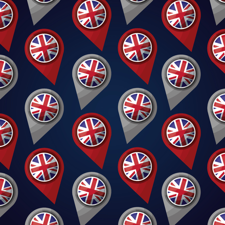 united kingdom locations london flag background vector illustration