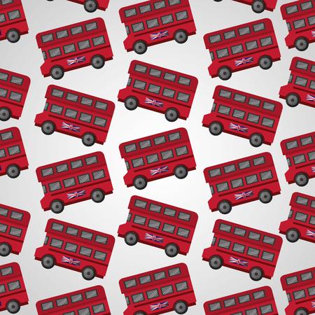 united kingdom doubles deckers london bus background vector illustration