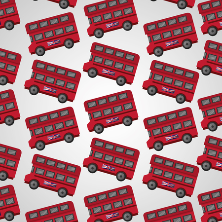 united kingdom doubles deckers london bus background vector illustration 免版税图像 - 114969389