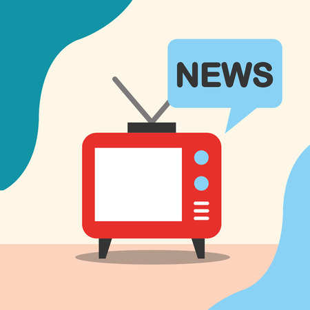 news communication relate television signal information vector illustration