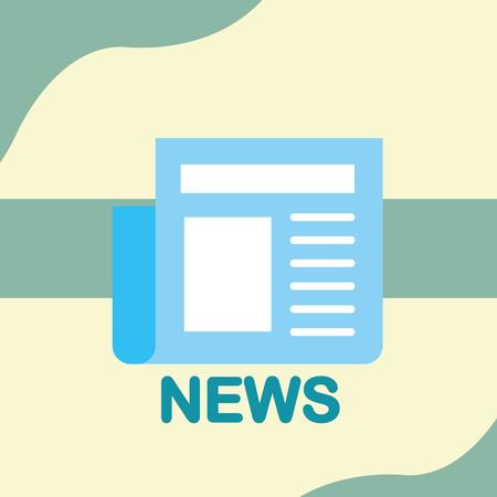 news communication relate newspapers information vector illustration Illustration