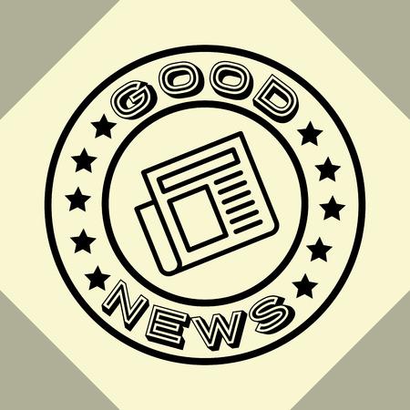 news communication relate sticker sign newspaper good information vector illustration