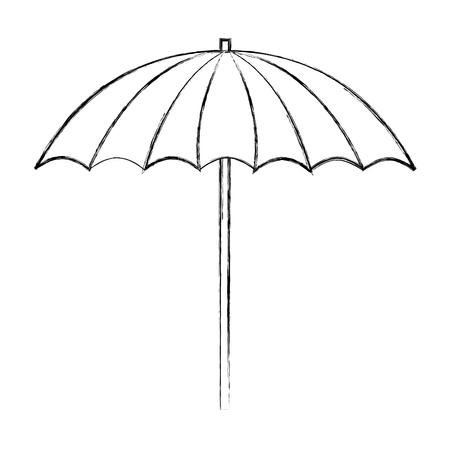 beach umbrella accessory equipment design vector illustration