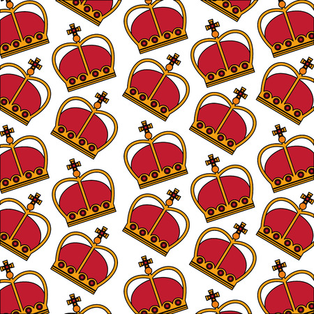 united kingdom crown royal monarchy background vector illustration Ilustrace