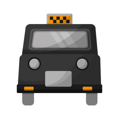 english taxi car transport public vector illustration Ilustração