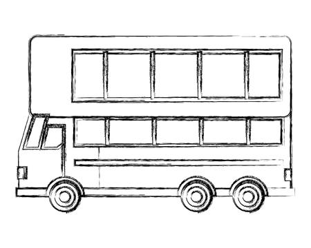 london double decker bus transport vector illustration