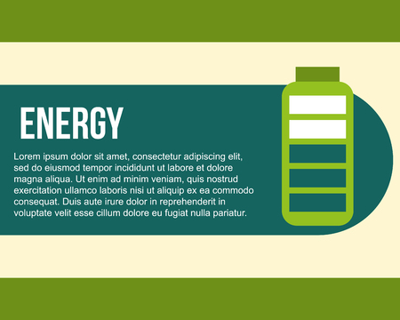 energy battery uncharged ecology power vector illustration Illustration