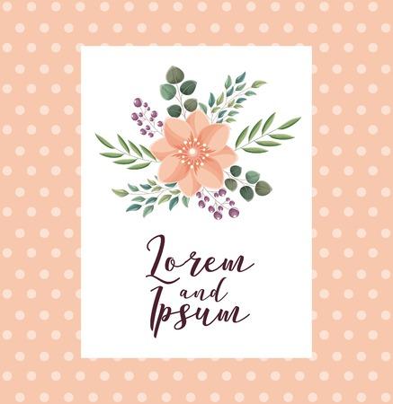 elegant wedding card flowers ornate decoration vector illustration 스톡 콘텐츠 - 114962038