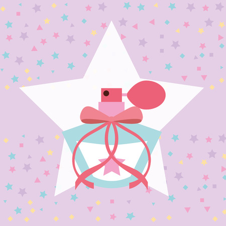 cute fragrance in star sprinkles background vector illustration Ilustração
