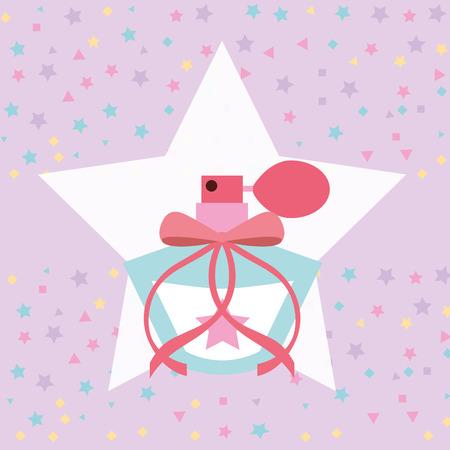 cute fragrance in star sprinkles background vector illustration Illustration