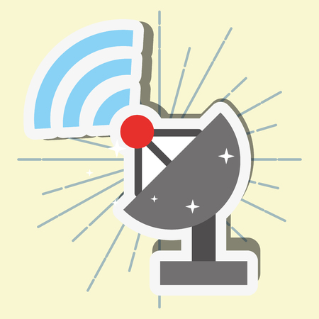 news communication relate satelite signal wifi antenna vector illustration