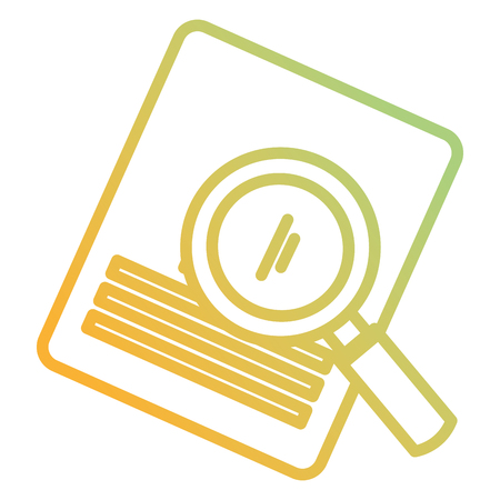 magnifying glass with documents vector illustration design Çizim