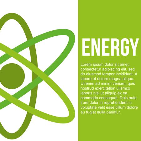 atom molecule energy science natural vector illustration Illusztráció