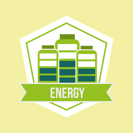 battery charged level energy emblem vector illustration